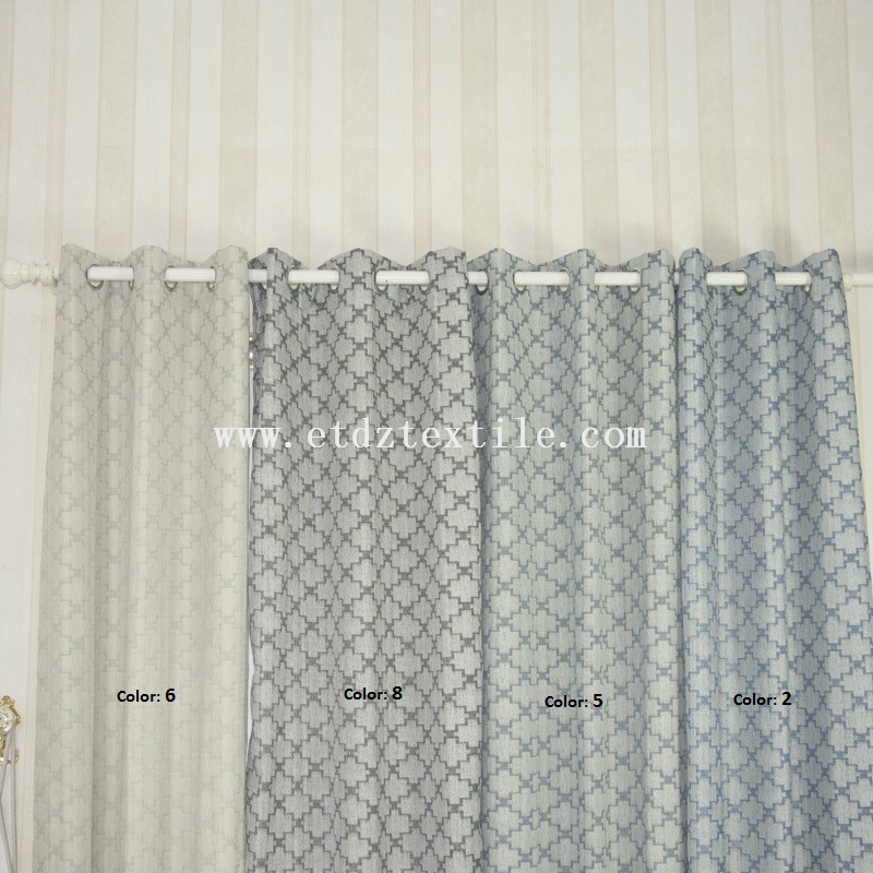 polyester jacquard curtain colors 6001