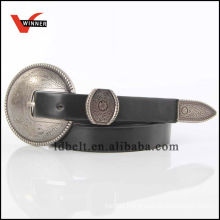 Popular style pu western belt for ladies