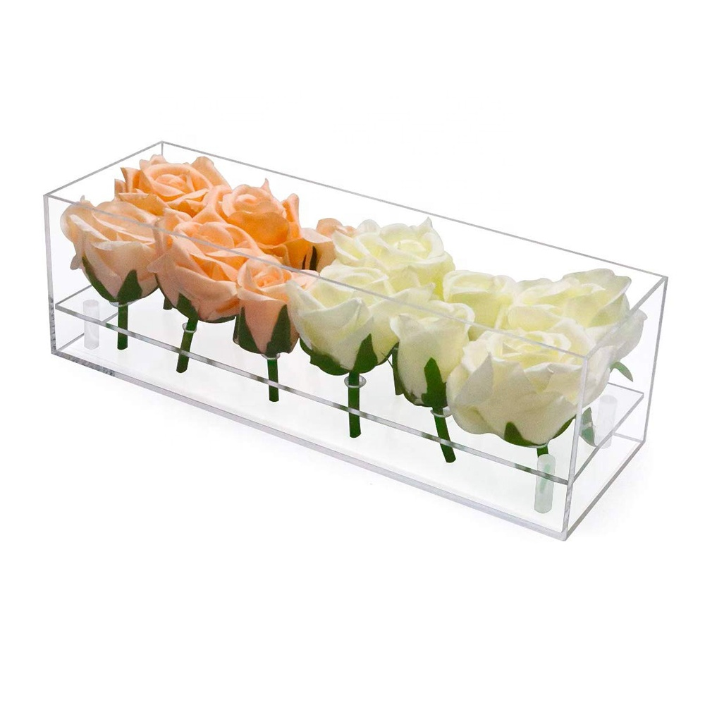 Lucite Flower Boxes Gift Case 12 Slots
