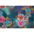 El lino colorido del poliéster adoró la tela modificada para requisitos particulares del sofá de las almohadas