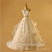 Overwhelming Exquisite top grade Off-The-Shoulder Ball gown wedding dress TS301
