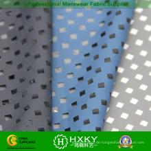 Beschichtete Poly Pongee Stoff mit perforierten Design