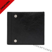 Lambskin / Nappa Mens Genuine Leather Wallet Purses With Coin Pocket , 10 X 11.5 X 1.5 Cm