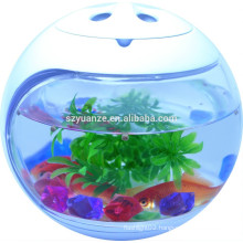 Smart nano glass aquarium fish tank , led round fish tank