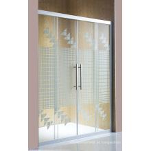Porta de chuveiro de vidro simples tela de chuveiro