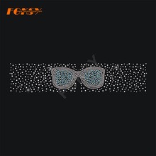 Glasses Tailless Cheer Bow Hot Fix Rhinestone Transfer