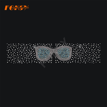 Gafas Sin respaldo Cheer Bow Hot Fix Rhinestone Transfer