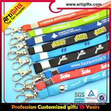 2015 promotion polyester ribbed lanyard