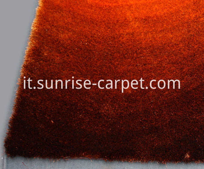 Thin Polyeste Shaggy Rug Gradational Design