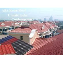 Tejas plásticas excelentes de la techumbre de la resistencia a la corrosión para los materiales de construcción