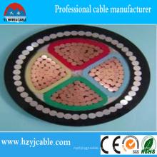 Cable de alimentación aislado XLPE de 0.6 / 1kv