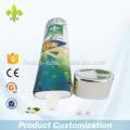 Tubo de champú vacío de plástico de aluminio de 150 ml impresión offset súper oval