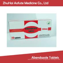 GMP-zertifizierte hochwertige Abendazol-Tabletten