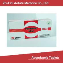 Таблетки Абендазола высокого качества, сертифицированные по GMP