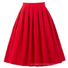 Belle Poque Rojo Vintage Faldas Pinup 50S 60S Faldas Verano BP000154-2