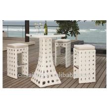 Горячие распродажи на открытом воздухе Все погодные коктейльные столы и стулья