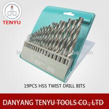 DIN338 полностью шлифованный кобальтовый набор HSS