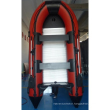 CE Red 360cm Inflatable Boat with Outboard Motor
