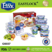 12pcs plastic containers with color box
