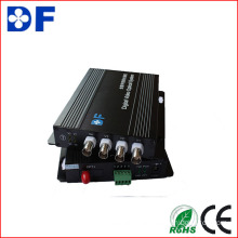 4CH Video + 1CH RS485 Data Optical Video Converter
