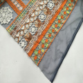 Classic Multicolor Rayon Yarn Embroidery Fabric