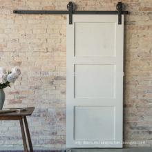 Puerta de granero bipartidaria de la brida bipartidaria grande blanca antigua para la sala de estar con hardware de la puerta deslizante