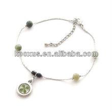 Genuina joyas de pulsera de trébol de cuatro hojas para regalos del día de ST.Patrick