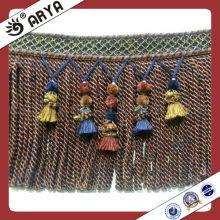 Rideau de tapis Pompom Tassel Franges et garnitures pour Sofa, Valance, Tapisserie, Tapis et Housse de Coussin Accueil Accessoire