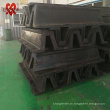 Hecho en China sólido marina super arco guardabarros cilindro tipo V tipo D defensa muelle de goma