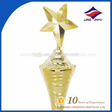 Estrella de oro forma 3D trofeo fábrica nuevo diseño