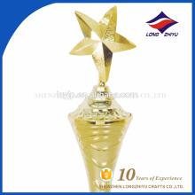 Gold star shape 3D trophy factory new design