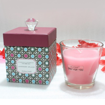 Vela de vidrio de soja perfumada tropical