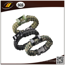 Paracord Rope Outdoor Survival Bracelet for Camping (HJ7016)