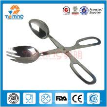 Cuisine en acier inoxydable Scissor Tong / pinces à aliments en acier inoxydable