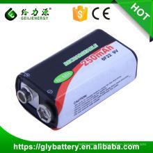 BF22 recarregável NIMH bateria 9V 250mAh para controle remoto
