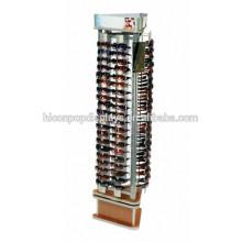 Venta al por menor de la fabricación de los suministros Venta al por mayor del soporte del piso 3-Sided de la tienda de las gafas de sol Optical Display Fixture