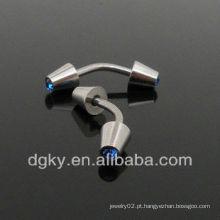 Anel de sobrancelha de aço cirúrgico piercing de sobrancelha diamante fantástico