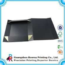 Custom Black Matte Folding Cardboard Magnetic Packaging Box