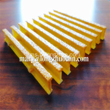 Yellow Industrial Pultruded Grating FRP Gratings