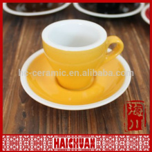 200ml white thick wall porcelain capuccino cup saucer