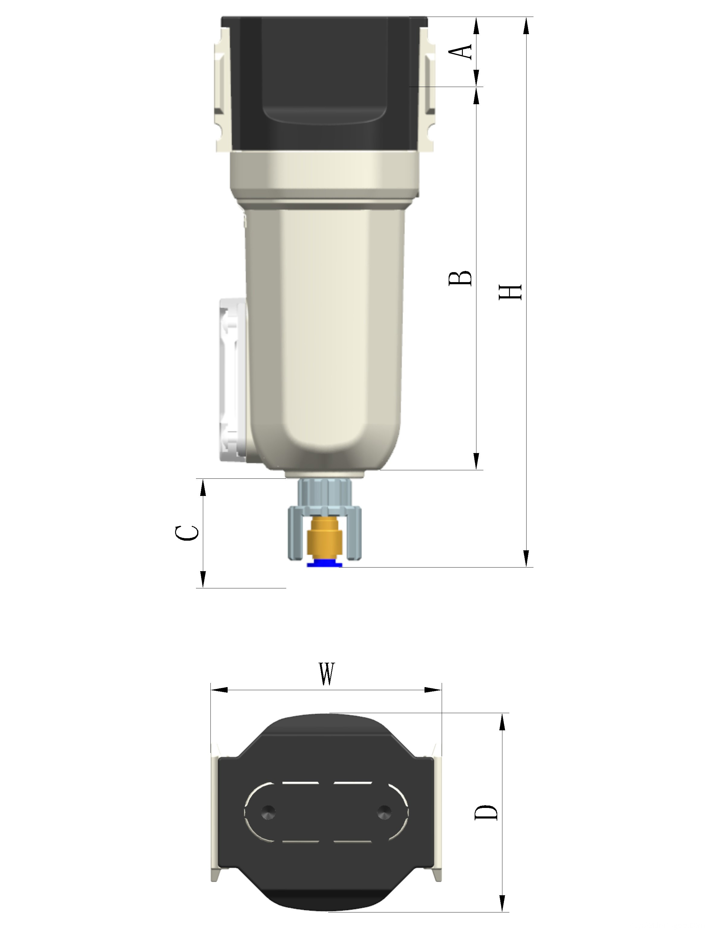 moisture separator for sandblasting