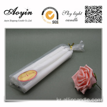 예 Handmade White Stick Long Burning Candle