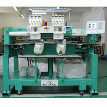 double heads cap embroidery machine puff