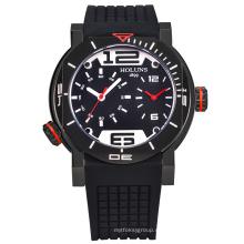 Männer Digital-Quarz-Marken-Uhr-Tasche, wasserdichte Edelstahl-Sport-Armbanduhren großes Vorwahlknopf-Luxuxautomatik