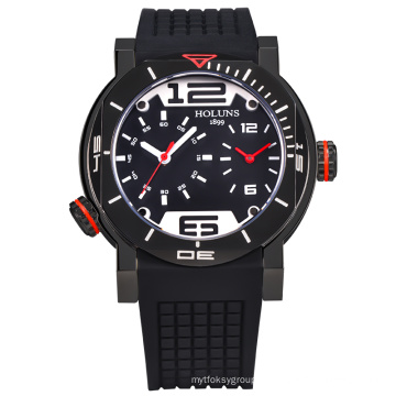 Men Digital Quartz Marque Watch Pocket, Waterproof Stainless Steel Sports Montres-bracelets Grand Dial Luxury Automatic