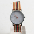 Hot sales watch nylon strap stainless steel watch back nylon wristband watch