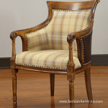 China Supplier for China Leisure Chairs, Modern Leisure Chair, Leisure Sex Chair Manufacturer and Supplier Rubber Carved High Back Lounge Armchair export to United States Factories