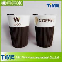 Taza de taza portátil de porcelana duradera para el café (15032701)
