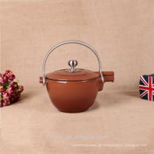 Emaillierter Gusseisen Wasserkocher / Teekanne