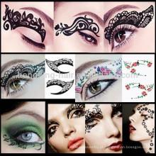 as tatuagens provisórias da tatuagem da etiqueta compo a etiqueta do eyeliner da etiqueta do tatuagem do olho